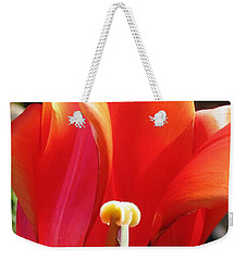 Weekender Tote Bag featuring the photograph Flame by Rory Sagner