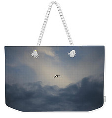 Weekender Tote Bag featuring the photograph Flight To Heaven by Penny Meyers