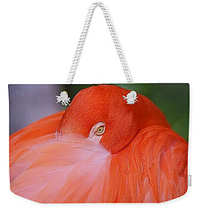 Flirty Flamingo Weekender Tote Bag by Myrna Bradshaw
