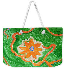 Weekender Tote Bag featuring the painting Floating Flower by Sonali Gangane