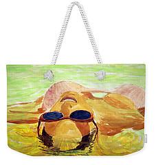Floating In Water Weekender Tote Bag by Brian Wallace