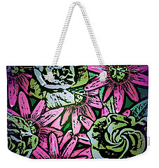 Weekender Tote Bag featuring the digital art Floral Explosion by George Pedro