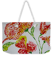 Weekender Tote Bag featuring the painting Florals by Sonali Gangane