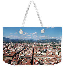 Weekender Tote Bag featuring the photograph Florence From The Duomo by Dany Lison