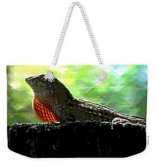 Weekender Tote Bag featuring the photograph Florida Dinosaur by George Pedro