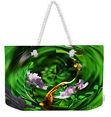 Weekender Tote Bag featuring the photograph Flowers Gone Wild by Cindy Manero