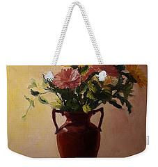 Flowers In A Square Weekender Tote Bag