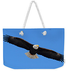 Flying Bald Eagle Weekender Tote Bag