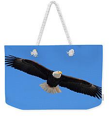 Flying Bald Eagle Weekender Tote Bag by Doug Lloyd