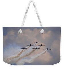 Flying In Formation Weekender Tote Bag by Julia Wilcox