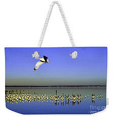 Weekender Tote Bag featuring the photograph Flying Solo by Clayton Bruster