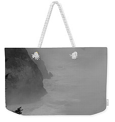 Weekender Tote Bag featuring the photograph Fog And Cliffs Of The Oregon Coast by Mick Anderson