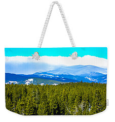 Weekender Tote Bag featuring the photograph Fog In The Rockies by Shannon Harrington