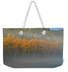 Foggy Autumn Morning Weekender Tote Bag by Albert Seger