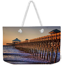 Folly Beach Pier Weekender Tote Bag
