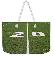 Weekender Tote Bag featuring the photograph Football Field Twenty by Henrik Lehnerer