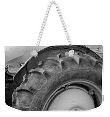 Weekender Tote Bag featuring the photograph Ford Tractor In Black And White by Jennifer Ancker
