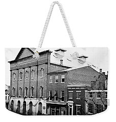 Weekender Tote Bag featuring the photograph Fords Theater - After Lincolns Assasination - 1865 by International  Images
