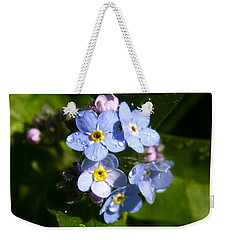 Forget Me Not Weekender Tote Bag by Ralph A  Ledergerber-Photography