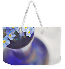 Forget Me Nots In Deep Blue Vase Weekender Tote Bag