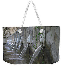 Weekender Tote Bag featuring the photograph Fountain by David Gleeson