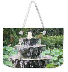 Weekender Tote Bag featuring the photograph Fountain by Donna  Smith