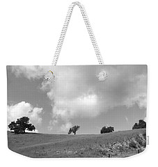 Weekender Tote Bag featuring the photograph Four On The Hill by Kathleen Grace