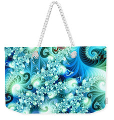 Fractal And Swan Weekender Tote Bag