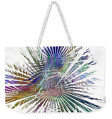 Fractura Colora On White Weekender Tote Bag