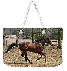 Weekender Tote Bag featuring the photograph Free Spirit by Davandra Cribbie