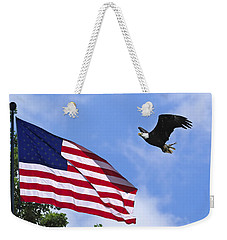 Weekender Tote Bag featuring the photograph Freedom Feeds The Family by Randall Branham