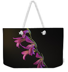 Weekender Tote Bag featuring the photograph Freesia In The Spotlight by Susan Rovira