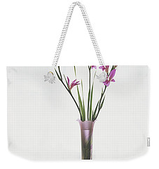 Freesias In Vase Weekender Tote Bag