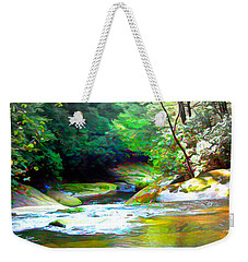 French Broad River Filtered Weekender Tote Bag