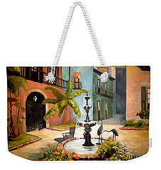 French Quarter Fountain Weekender Tote Bag