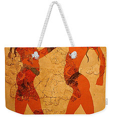 Fresco Of Boxing Children Weekender Tote Bag