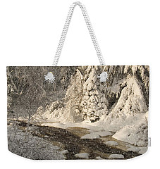 Fresh Snow Weekender Tote Bag
