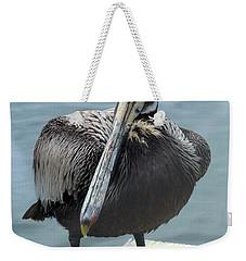 Friendly Pelican Weekender Tote Bag by Carla Parris