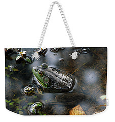 Frog In The Millpond Weekender Tote Bag by Kay Lovingood
