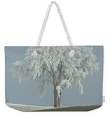 Weekender Tote Bag featuring the photograph Frost On The Big Tree  by Penny Meyers