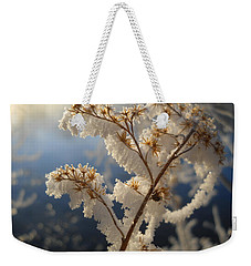 Frosty Dry Wood Aster Weekender Tote Bag by Kent Lorentzen
