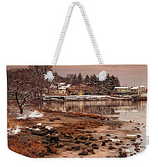Frosty Sunset Weekender Tote Bag