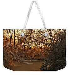 Frozen Pond Weekender Tote Bag