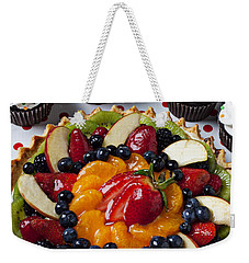 Fruit Tart Pie And Cupcakes  Weekender Tote Bag by Garry Gay