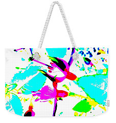 Weekender Tote Bag featuring the digital art Fuchsia by Barbara Moignard