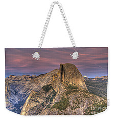 Full Moon Rise Behind Half Dome Weekender Tote Bag by Jim And Emily Bush
