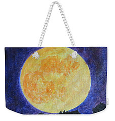 Weekender Tote Bag featuring the painting Full Moon by Sonali Gangane