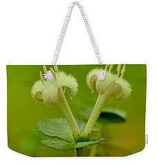 Weekender Tote Bag featuring the photograph Fuzzy Blooms by JD Grimes