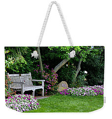 Garden Bench Weekender Tote Bag by Michelle Joseph-Long