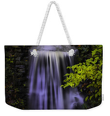 Weekender Tote Bag featuring the photograph Garden Falls by Lynne Jenkins
